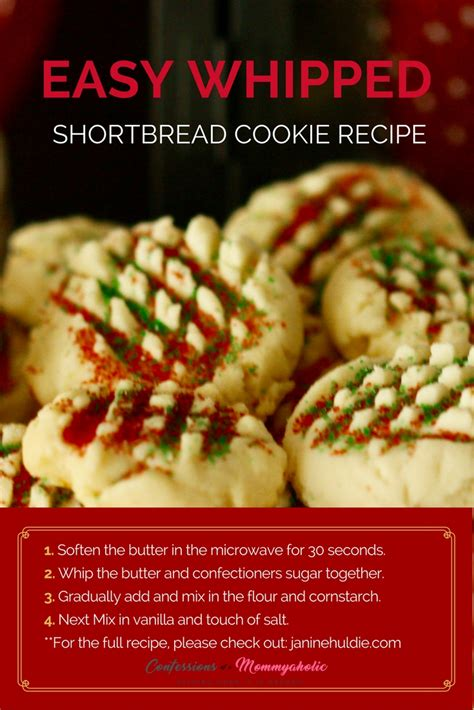 easy shortbread cookies recipe confessions   mommyaholic