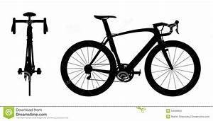 Road Racing Bike Silhouette 2in1 A Stock Illustration ...