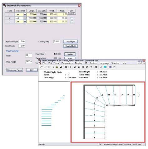 logiciel d escaliers stairdesigner calcul et dessin