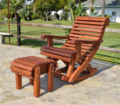 outdoor wooden rocking chair  built    support