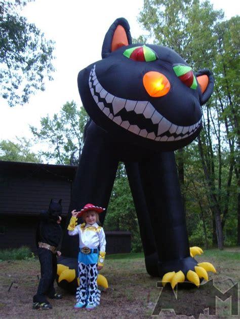 extreme halloween yard display  story inflatable