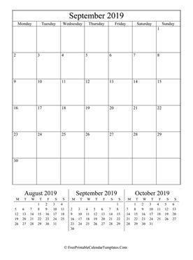 september  calendar printable  holidays