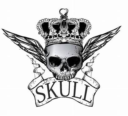 Skull Drawing Crown Transparent Clipart Clipartmag