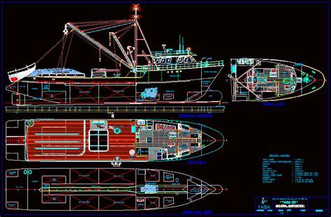 fishing ship dwg plan  autocad designs cad