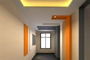Corridor ceiling color creative design 3D Download 3D House