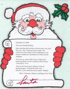 Personalized letters from santa claus for Santa claus letter to child