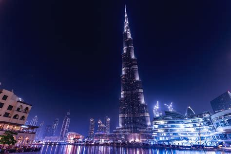 Burj Khalifa Dubai Night, Hd World, 4k Wallpapers, Images