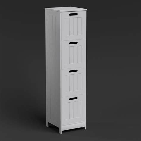 Free Standing Storage Cabinet by Free Standing Wall White Bathroom Storage Cabinet Unit