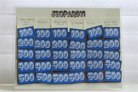 Make Your Own Jeopardy Board