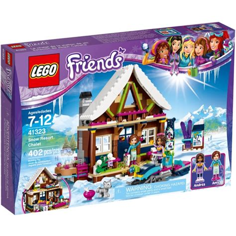 Lego Friends Sets 41323 Snow Resort Chalet New
