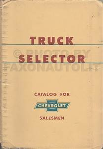 1956 Chevy Pickup  U0026 Truck Repair Shop Manual Original