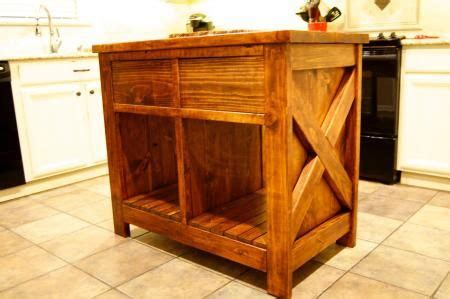 do it yourself kitchen islands modified rustic x kitchen island do it yourself home
