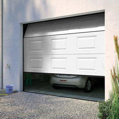 porte de garage sectionnelle motoris 233 e blanc l 240 cm castorama