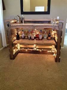 Pallet Bar - 30 Best Picket Pallet Bar DIY Ideas for Your