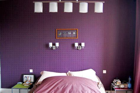 chambre gris et violet style décoration chambre gris et violet