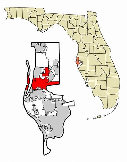 Clearwater County Florida Unincorporated Pinellas Areas Svg