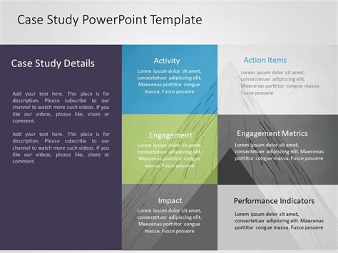 case study powerpoint template highlights problem