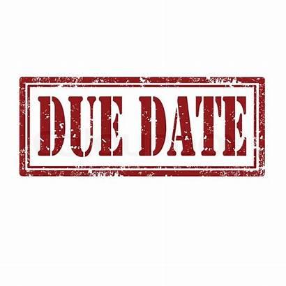 Due Stamp Date Clipart Money Privilege Clip