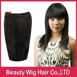 2 pieces No Clips Halo Hair Extensions, Flip in Hair ...