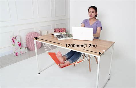 leg rest for desk fuut desk foot rest a hammock for your feet technabob