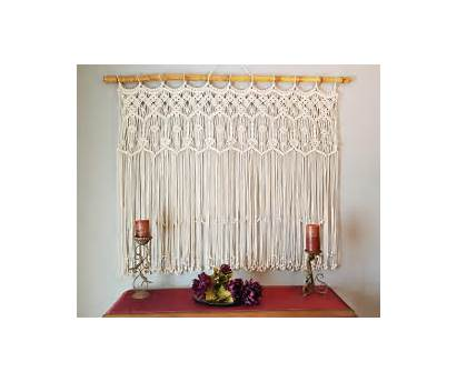 Macrame Curtain Hanging Own Curtains Boho Headboard