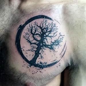 Tree Of Life Male Small Chest Tattoos | Tattoo Ideas ...