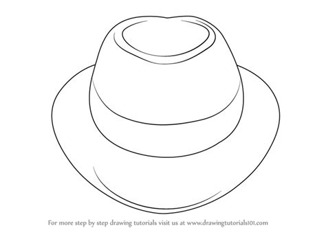 learn   draw  hat hats step  step drawing