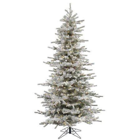 walmart in store pre lit slim tree on sale vickerman pre lit 6 5 flocked slim artificial tree led warm white lights