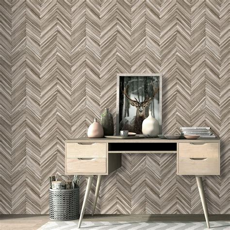 hygge wood  albany brown wallpaper direct