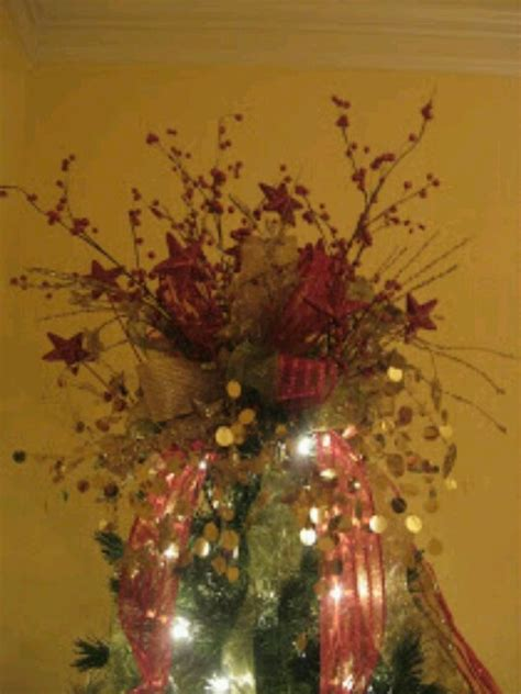 diy christmas tree bow topper holidays ideas pinterest