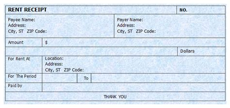 house rental invoice rent receipt template