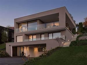 Bauen Am Hang : einfamilienhaus hanghaus modern edelstahlpool ~ Lizthompson.info Haus und Dekorationen