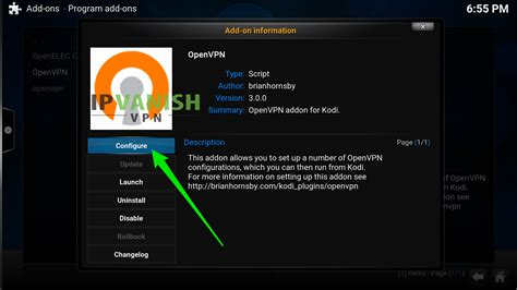 set up openvpn on openelec 6 kodi ipvanish