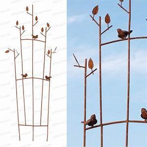 Treillis Pour Plantes Grimpantes : eventail acier oiseau treillages support grimpantes ~ Premium-room.com Idées de Décoration