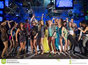 Eighteen Young People Having Fun And Dancing Royalty Free ...