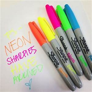 Image Gallery Neon Sharpies