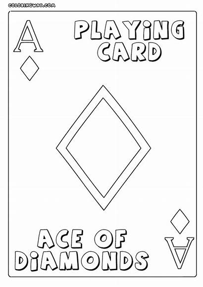 Cards Uno Playing Coloring Template Playingcards