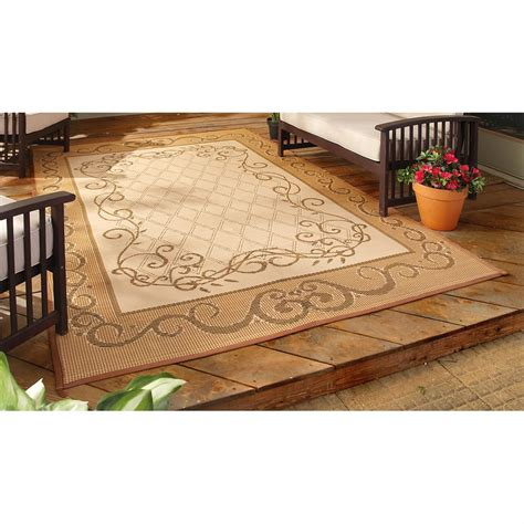 Reversible Outdoor Patio Mats by 6x9 Reversible Patio Mat Beige 209770 Outdoor Rugs At
