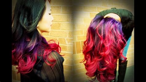 Hellocindee Best Ombre Tutorial On Youtube Andand Purple