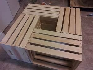 Table Basse Caisse Bois : diy fabriquer une table basse en utilisant des caisses de vin ~ Nature-et-papiers.com Idées de Décoration