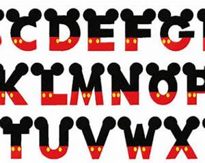 18 mickey mouse font alphabet images mickey mouse With mickey mouse clubhouse letter stencils
