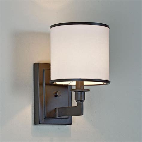 bath sconce lighting soft contemporary sconce 1 light fabric shades theater