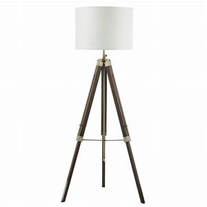 Eas4947 easel tripod floor lamp dark wood base only for Dark wood floor lamp base