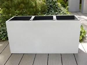 Blumenkübel Mit Sichtschutz : pflanztrog aus fiberglas 82x28x40cm in perlwei f r 3 eins tze extra pflanzk bel ~ Sanjose-hotels-ca.com Haus und Dekorationen