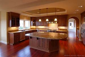 pictures of kitchens traditional dark wood cherry color 763
