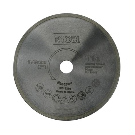Ryobi 7 Tile Saw Blade by Ryobi 178mm Tile Saw Blade Bunnings Warehouse