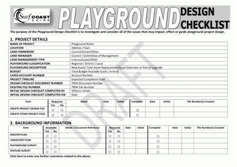 Home Design Checklist : Playground Design Checklist