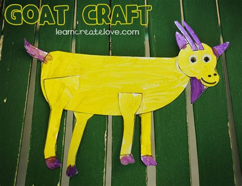 printable goat craft from learncreatelove 130 | 09b93060056f8f7eca33f56a614651c6