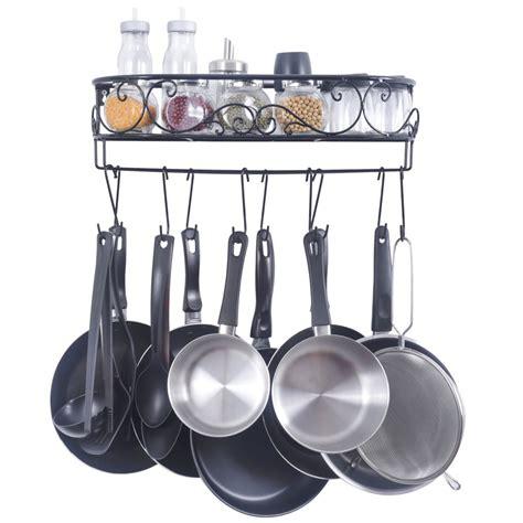 hanging pot rack hooks hanging pot holder pan hanger cookware hook rack iron
