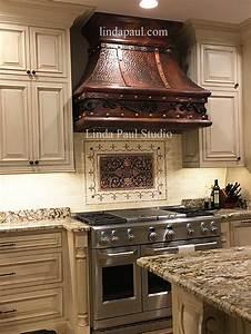 kitchen backsplash plaques ravenna decorative tile medallion With kitchen colors with white cabinets with metal fleur de lis wall art